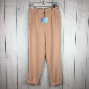 NWT Missguided Blush Tapered Trouser Pants Sz 8 US